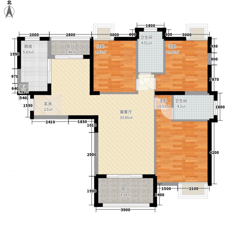 香城尚都127.00㎡B2户型3室2厅2卫1厨