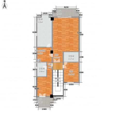 观澜高尔夫二期观澜豪园3室0厅3卫0厨200.00㎡户型图