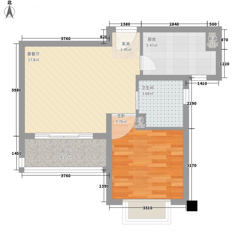 绿地21城D区60.00㎡绿地21城D区樨桂园1室户型1室