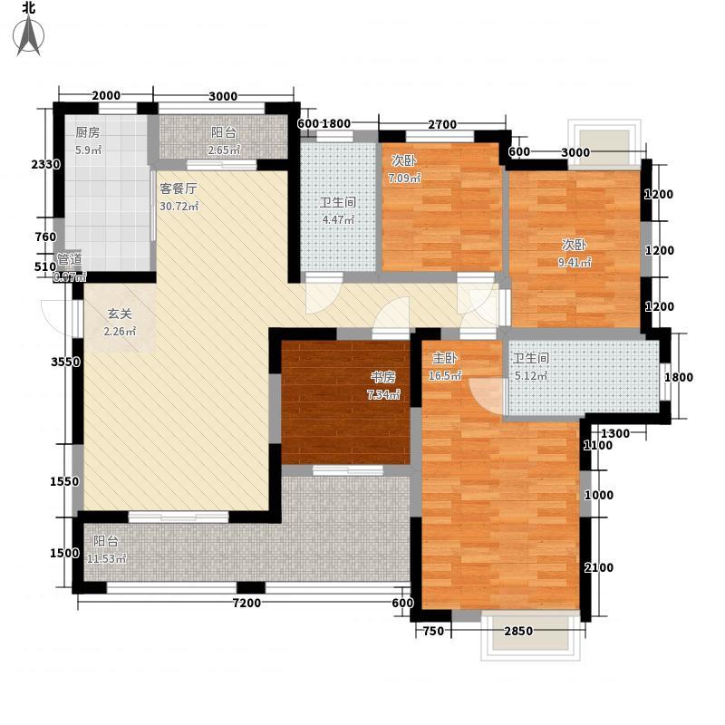 香城尚都143.00㎡C1户型4室2厅2卫1厨