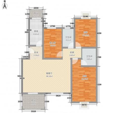天星锦苑3室1厅2卫1厨158.00㎡户型图