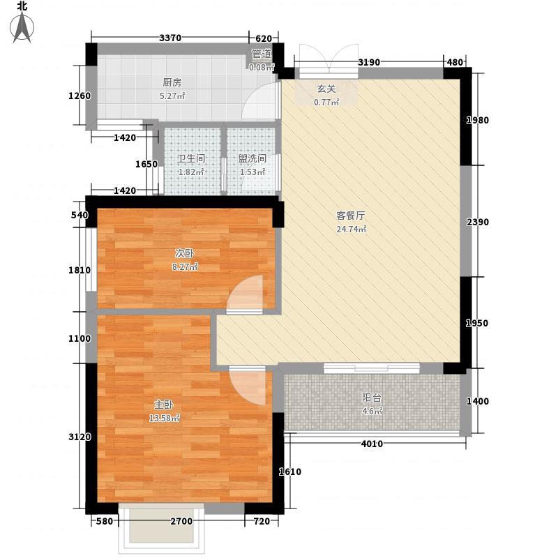 汉口湖畔5、6、7、8号楼2D户型