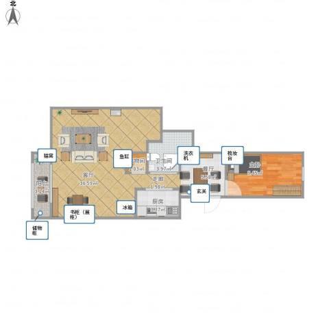 南菜园1号院1室1厅1卫1厨78.00㎡户型图