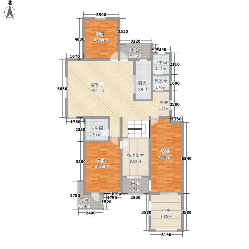新天地国际新城3室1厅2卫1厨146.26㎡户型图