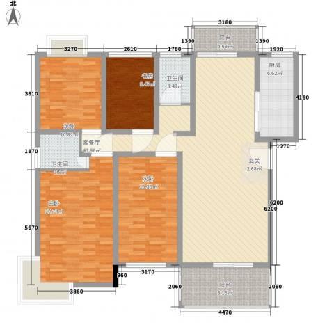 锦豪雍景园4室1厅2卫1厨178.00㎡户型图