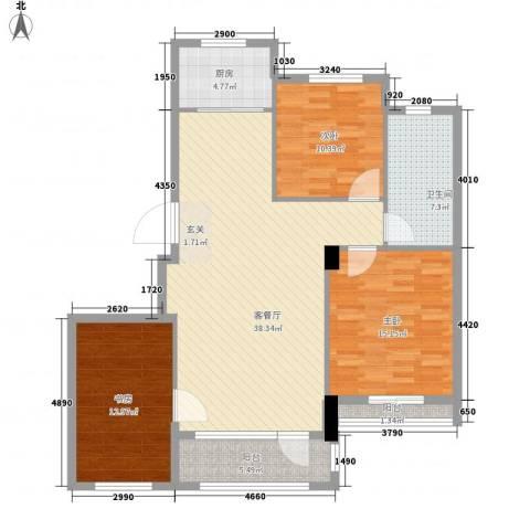 神仙树3号院3室1厅1卫1厨134.00㎡户型图