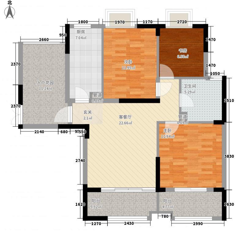 发能太阳海岸1.13㎡7#楼07户型2室2厅1卫1厨