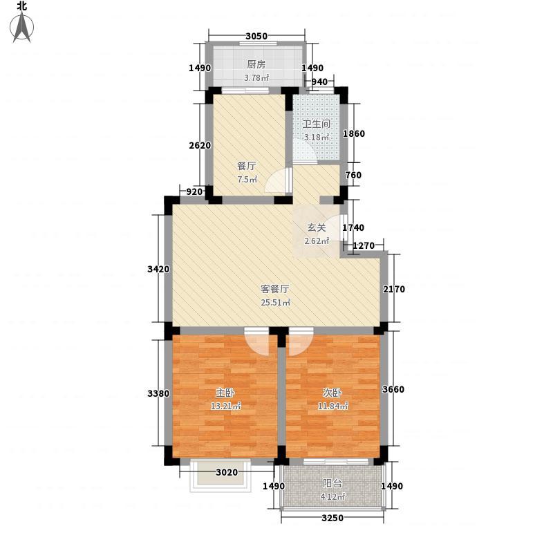 阜阳北路市政小区80.00㎡阜阳北路市政小区2室户型2室