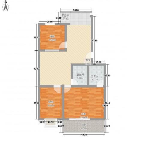 幸福苑3室1厅2卫0厨94.22㎡户型图