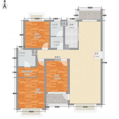 盟科商业广场(阿城)3室1厅2卫1厨148.00㎡户型图