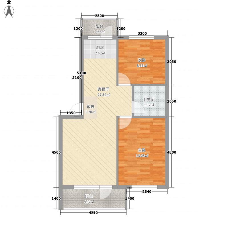 天威里小区两居室1户型2室1厅1卫1厨