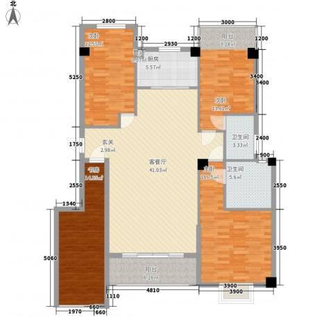 禹洲香槟城4室1厅2卫1厨119.18㎡户型图