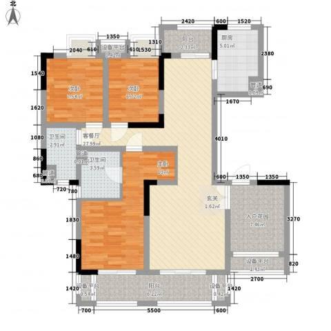 中信森林湖3室1厅2卫1厨104.00㎡户型图