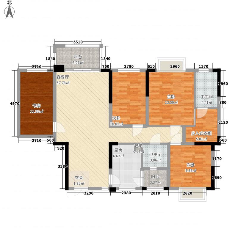 龙基传媒星城4室1厅2卫1厨157.00㎡户型图