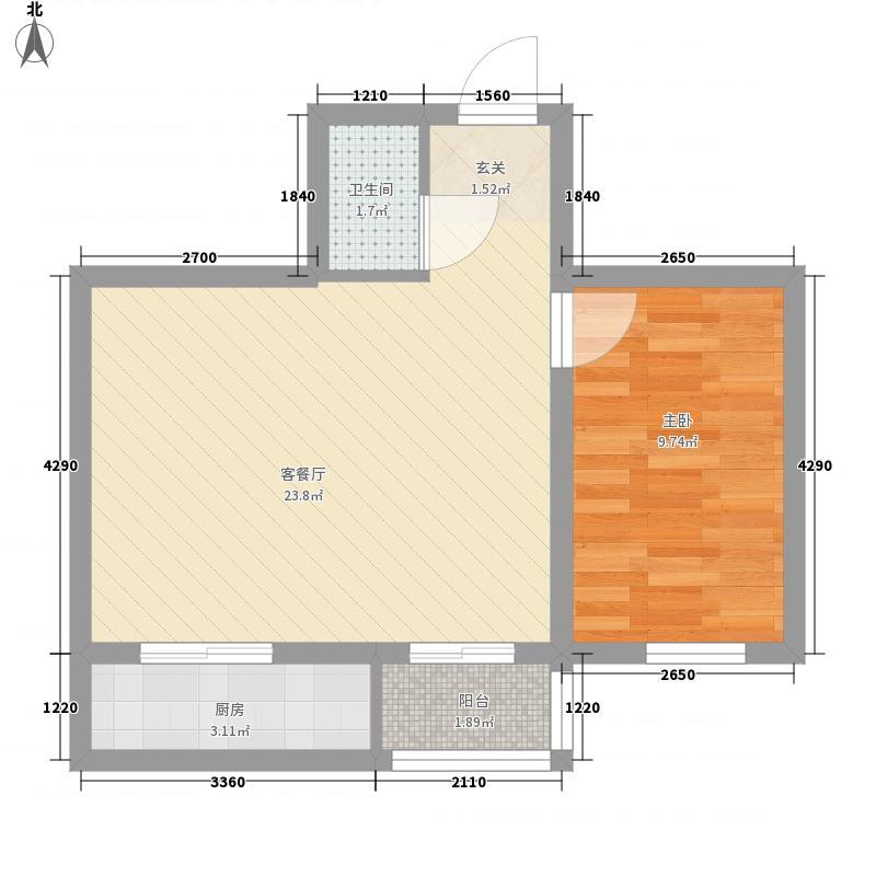 温馨花园二期55.89㎡温馨花园二期户型图B区户型图1室1厅1卫户型1室1厅1卫