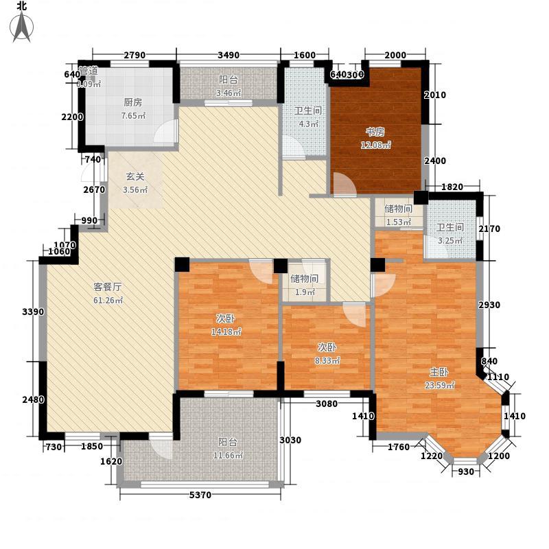 和盛怡景苑21.30㎡G5户型4室2厅2卫