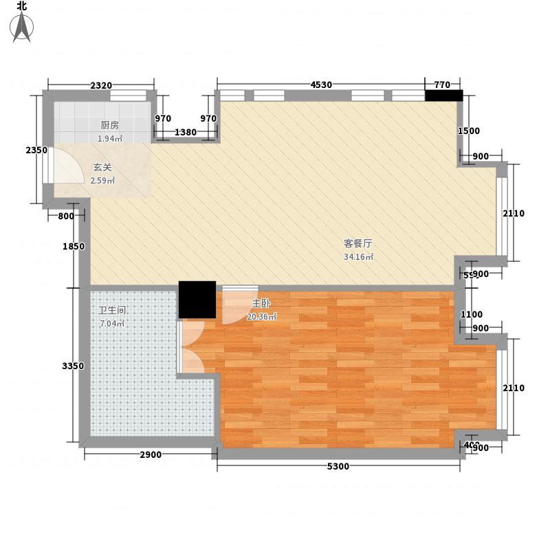廊坊新世界中心公寓F户型