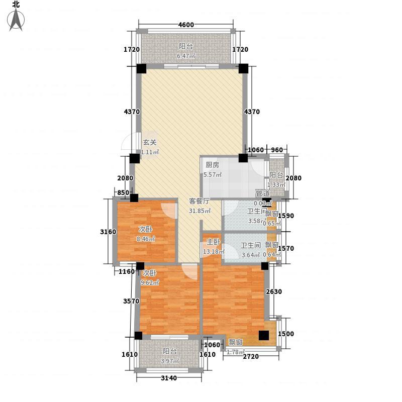 长滩一里126.00㎡长滩一里户型图2#B1户型图3室2厅2卫1厨户型3室2厅2卫1厨