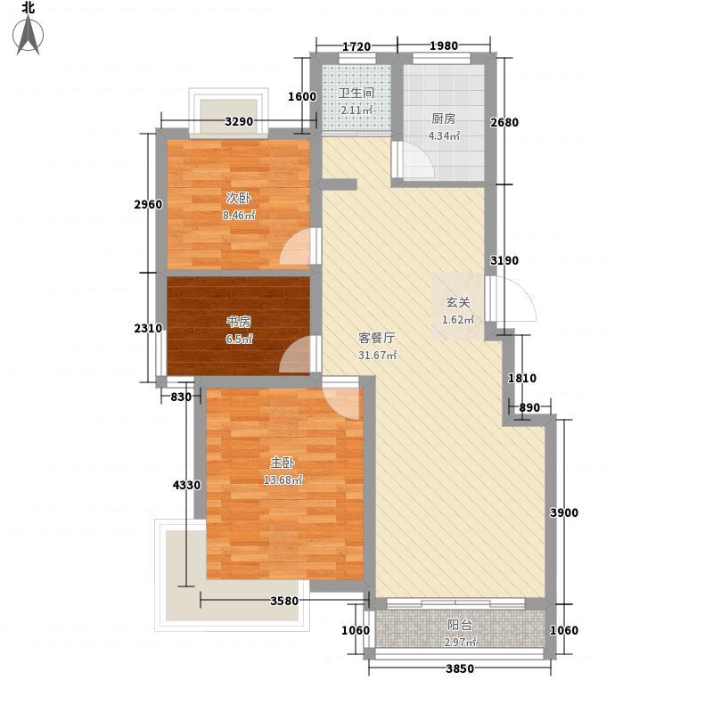 梅苑新村梅户4户型3室2厅1卫1厨
