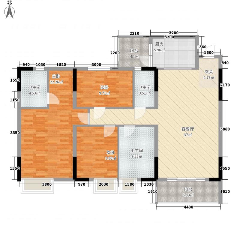 东丽花园2.00㎡户型4室2厅2卫1厨
