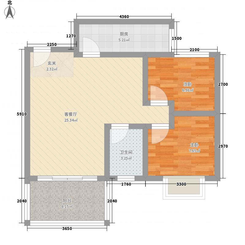 玉树苑71.02㎡玉树苑户型图2室2厅1卫1厨户型10室
