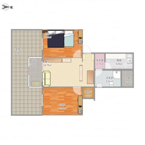 金杨九街坊2室1厅1卫1厨122.00㎡户型图