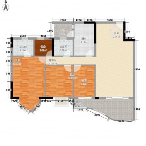 逸景翠园御豪轩4室1厅2卫1厨153.00㎡户型图