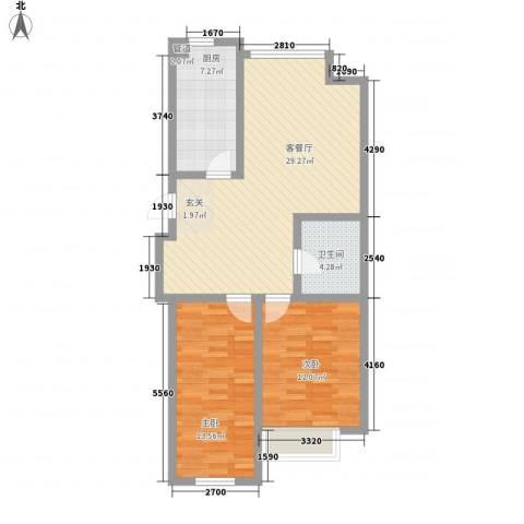 圣罗伦斯・巴比伦2室1厅1卫1厨91.00㎡户型图