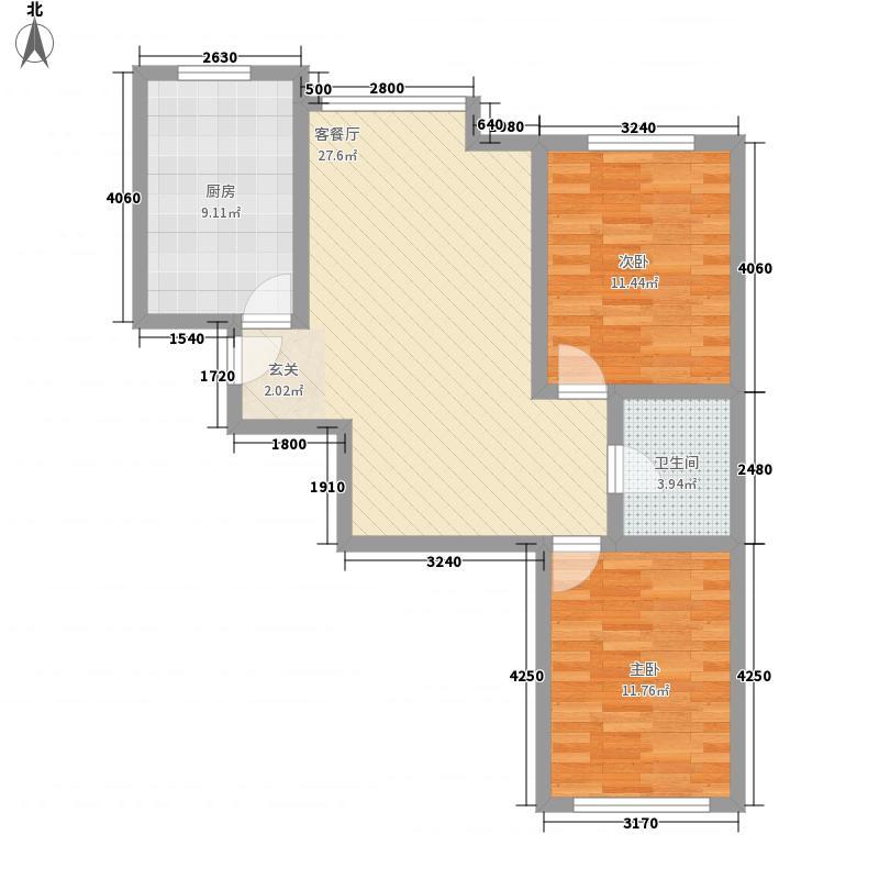 圣罗伦斯・巴比伦 2室 户型图
