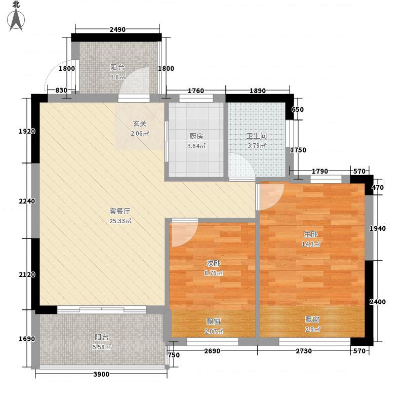 冠亚・御龙湾1#、2#楼1-F-3户型