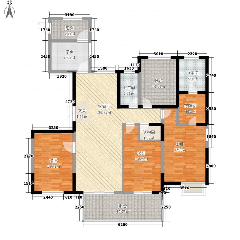 百乐和园3室1厅2卫1厨183.00㎡户型图