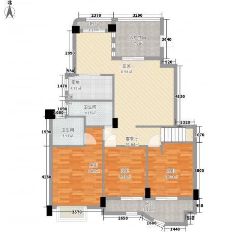 尚层建筑3室1厅2卫1厨134.00㎡户型图