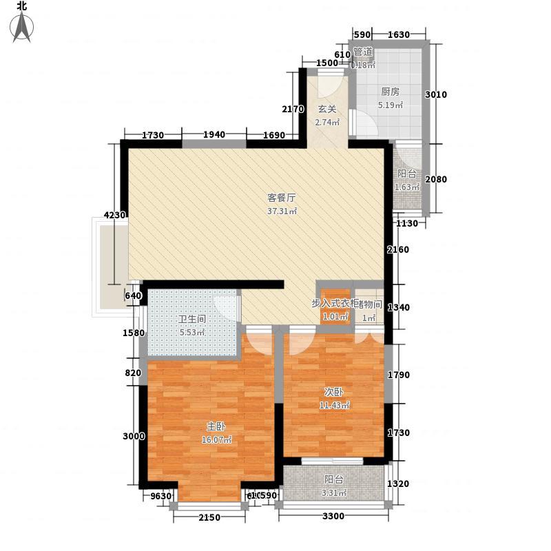 明珠大厦6.00㎡户型3室