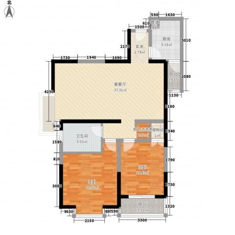 明珠大厦2室1厅1卫1厨81.65㎡户型图