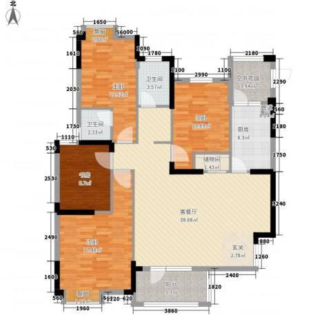 王家湾中央生活区4室1厅2卫1厨148.00㎡户型图