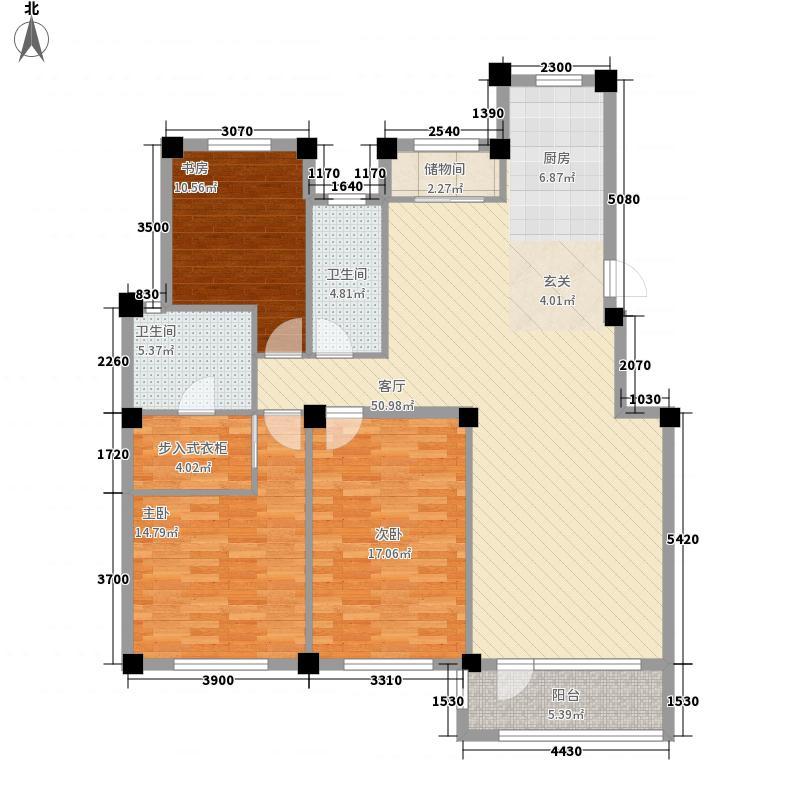 缇香漫城3室1厅2卫0厨115.42㎡户型图