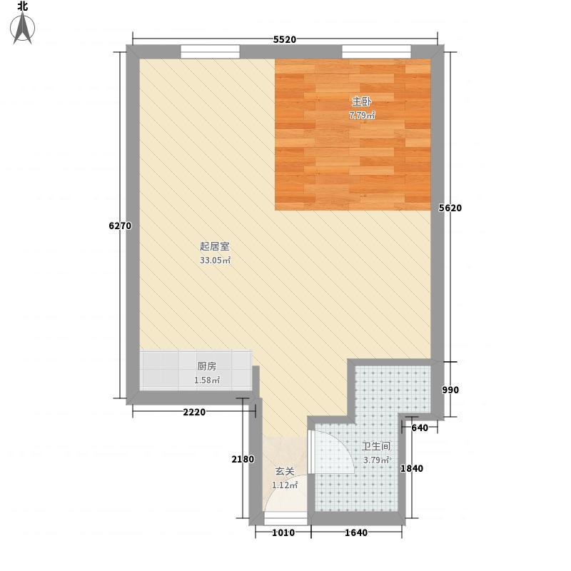 科明达商务公馆阁楼58.00㎡户型图