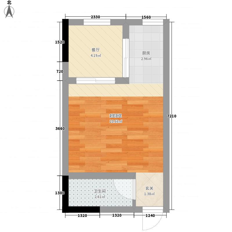 金洲城0室1厅1卫0厨35.00㎡户型图