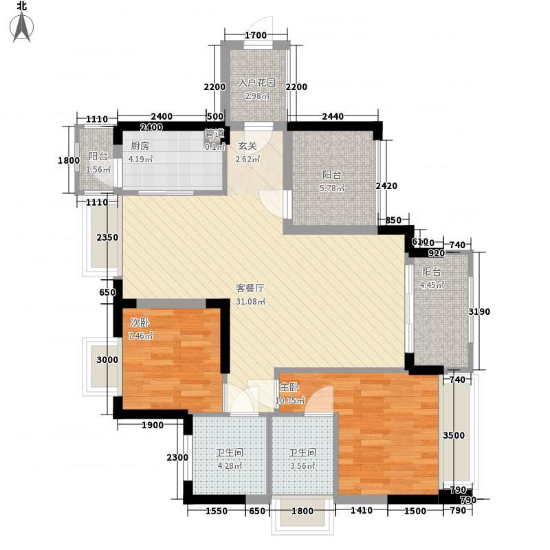 灏昌园6.00㎡文昌轩洋房1/2栋B/C户型3室2厅2卫1厨