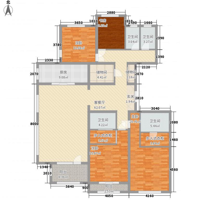 中景・香颂金街237.32㎡2期18#楼F2户型4室3厅3卫1厨
