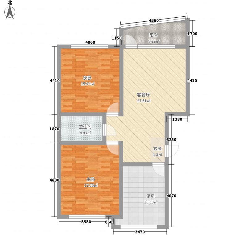 吉祥阁78.42㎡吉祥阁户型图2室1厅1卫1厨户型10室