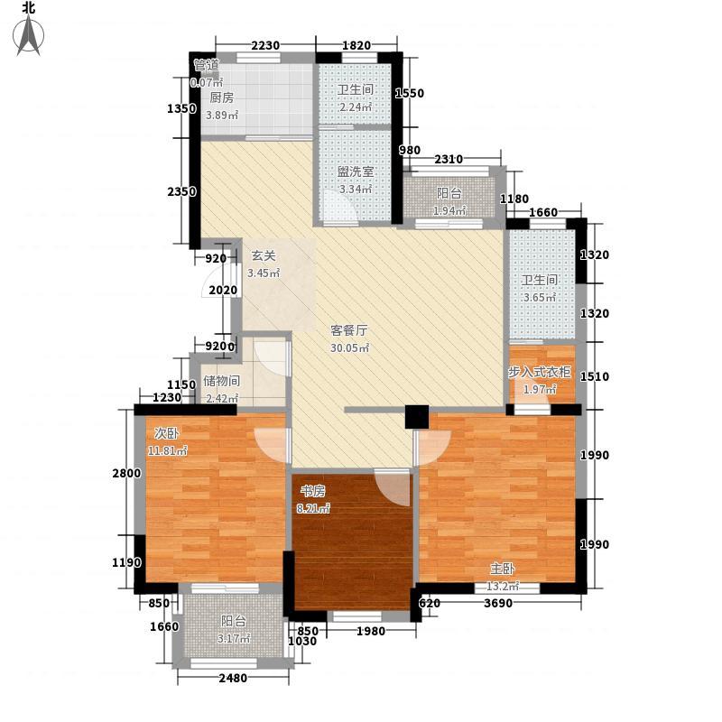 和盛怡景苑123.20㎡G6户型3室2厅2卫