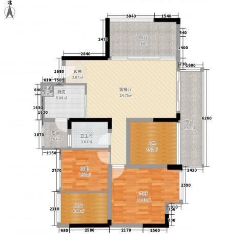 熙和园2室0厅1卫1厨118.00㎡户型图