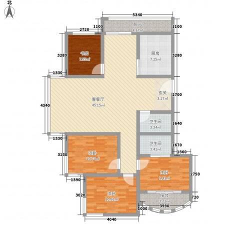 鼓楼人家4室1厅2卫1厨122.40㎡户型图