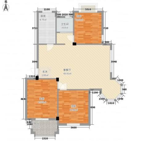 常工尚城国际3室1厅1卫1厨134.00㎡户型图