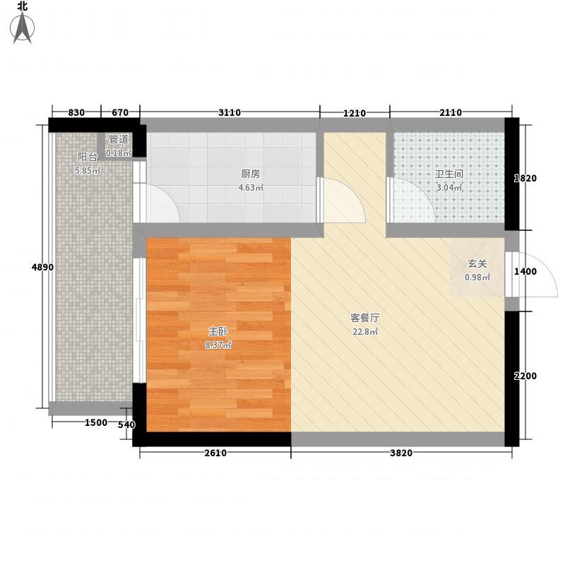 尚书房一居室11户型1室1厅1卫1厨