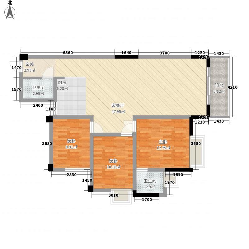 安厦尚城风景7#1单元3号房2―15层户型