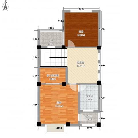东河上的院子2室0厅1卫0厨95.00㎡户型图