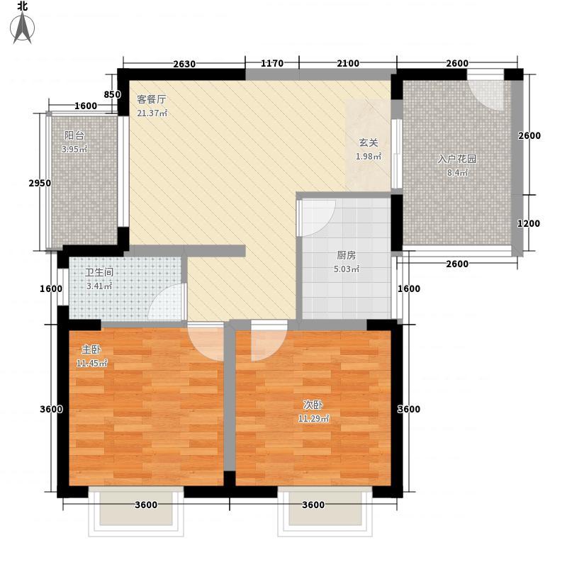 六安路体委大院50.00㎡六安路体委大院2室户型2室