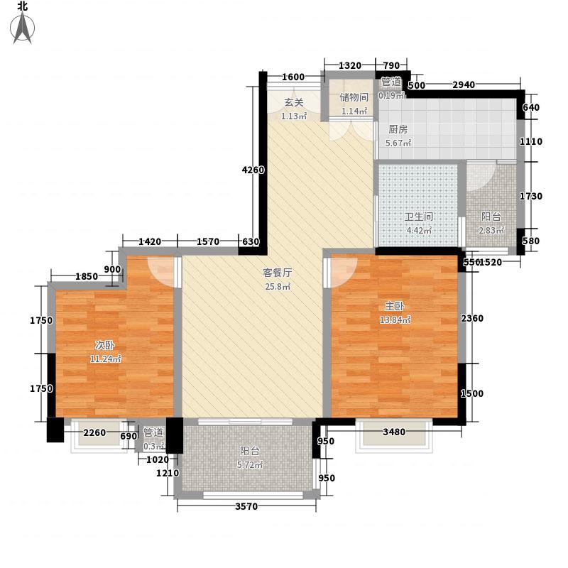 御龙天峰一期铂庭组团11号楼标准层B-1'户型